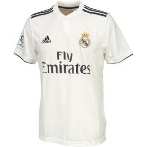 Adidas 18/19 Real Madrid Home with Lfp Badge Maillot Core White/Black, L
