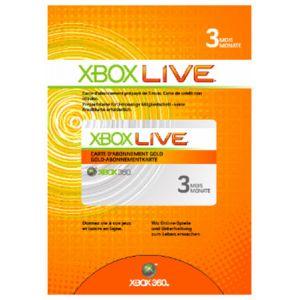 Microsoft Carte Xbox Live abonnement 3 Mois pour Xbox 360
