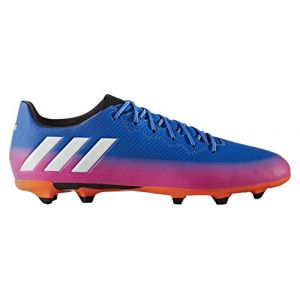 Adidas Messi 16.3 FG, Chaussures de Football Compétition Homme, Multicolore (Blue/FTWR White/Solar Orange), 44 2/3 EU