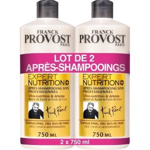 Franck Provost Expert Nutrition - Après-Shampooing Professionnel (Beurre de Karité & Huile de Coco) - 2 x 750 ml