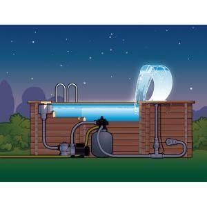 Ubbink Cascade de piscine Mamba Acrylique LED