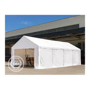Intent24 Abri / Tente de stockage ECONOMY - 4 x 8 m en vert fonce - toile PVC 500 g/m² imperméable