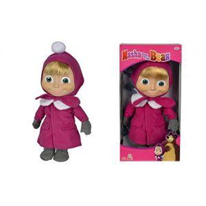 Simba Toys Poupée Masha et Michka 40 cm
