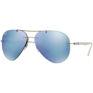 Ray-Ban Rb8058 Homme Sunglasses Verres: Gris, Monture: Blanc - RB8058 003/30 59-13