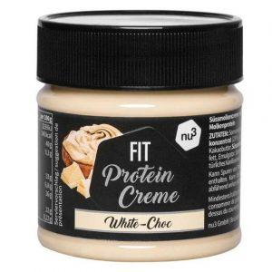 Nu3 Fit Protein Crème chocolat blanc 200g - 21% de protéines & sans sucre ajouté - alternative à la pâte à tartiner du supermarché - sans gluten & sans huile de palme