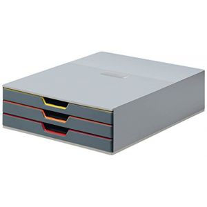 Durable Module de classement Varicolor 3 tiroirs 7603-27