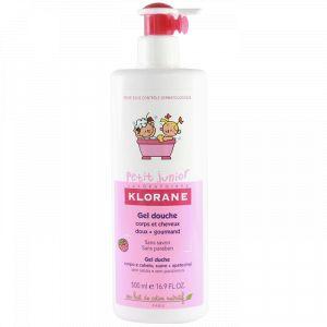 Klorane Petit Junior - Gel douche corps & cheveux framboise - 500 ml
