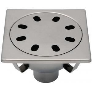 Limatec 2063F - Siphon inox p-sol carrelé 20x20cm a-rosette libre garde d'eau 50mm