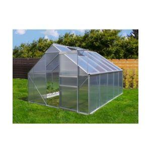 Plantiflex Serre de jardin 7.75 m² en aluminium avec porte et une fenêtre