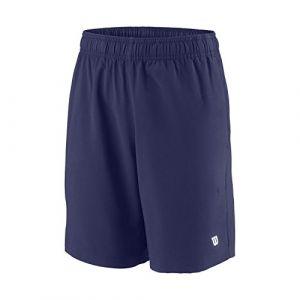 Wilson Enfant Short de Tennis, B TEAM 7 Short, Polyester, Bleu (Blue Depths), L, WRA767403