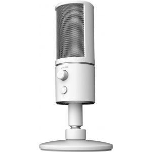 Razer Seiren X Mercury Microphone à Condensateur Pour eux Vidéo - Amortisseur de Chocs Intégré - Microphone Streaming de Qualité