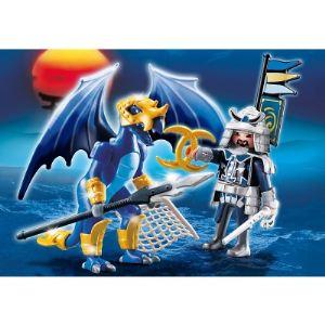 Playmobil 5464 Dragons - Dragon des glaces avec combattant