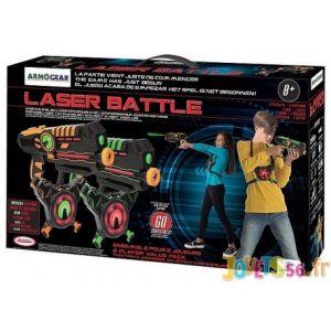 D'arpèje Laser Battle - Set 2 joueurs équipe vert/orange