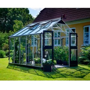 Juliana Serre en verre trempé Premium 10.9 m², Couleur Silver, Base Sans base