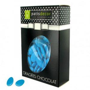 Patisdécor Dragées chocolat bleu turquoise - 500g