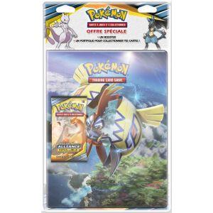 Asmodée Pokemon- SL10 Soleil et Lune – Alliance Infaillible-Pack Cahier Range-Cartes + Booster, POB09SL10