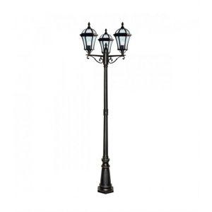 Searchlight Lampadaire 3 ampoules Capri, en aluminium et verre, marron rustique