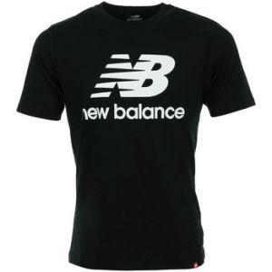New Balance T-shirt Essentials Stacked Logo Tee Noir - Taille 36,EU S,EU M,EU L