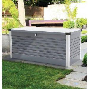 Trimetals Coffre de Rangement Design en Métal 1.46 mètres carrés Patio Box - coloris Gris Clair