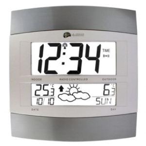 La Crosse Technology WS6158 IT - Station météo murale avec transmetteur, température intérieure et extérieure