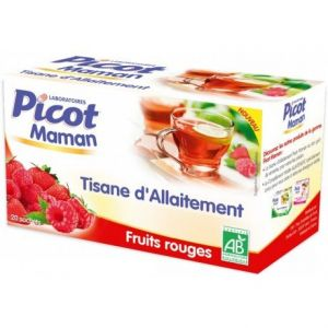 Picot Tisane d'allaitement fruits rouges, 20 sachets