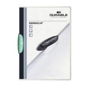 Durable 2260-32 - Chemise à clip SWINGCLIP, clip pétrole, A4