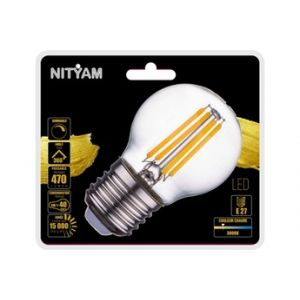 Nityam Ampoule LED SPHERIQUE FILAMENT CLAIR DIMMABLE