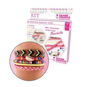 Graine Créative Kit Création de bracelet brésilien manchette - Rainbow