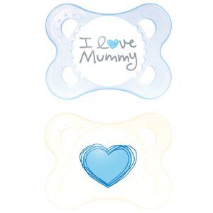 Mam 2 sucettes Original I love Mummy en silicone (0-6 mois)