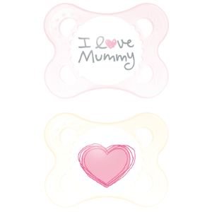 Mam 2 sucettes Original I love Mummy en silicone (0-6 mois)