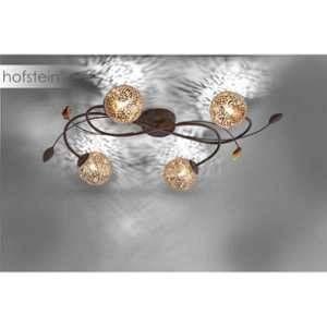 Paul neuhaus Plafonnier LED, Ampoule halogène G9 EEC: selon lampoule (A++ - E) 160 W GRETA 6395-48 rouille, or