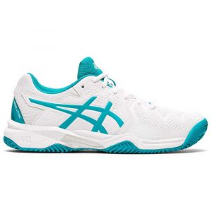 Asics Gel - Resolution 8 Clay Gs White / Lagoon Enfants Taille 34.5