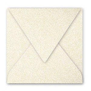 Pollen 50048C - Enveloppe 140x140, 120 g/m², coloris ivoire irisé, en paquet cellophané de 20