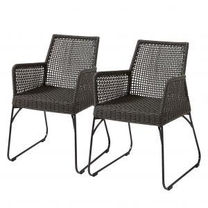Ars Manufacti LF - Chaise Lot de 2 chaises Novak gris foncé. Produit Neuf ! Garantie 2 ans LF !