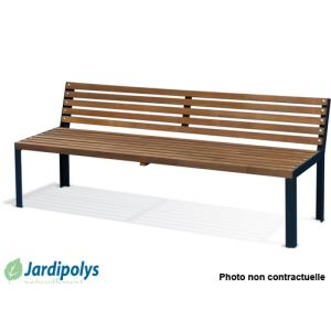 Jardipolys 0100904 - Banc de jardin en pin et métal 190 cm