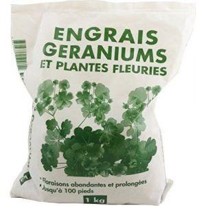 Florendi Engrais géraniums et plantes fleuries granulés vg sac 1 kg