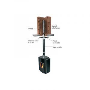 Ten Raccord poele-tubage flexible inox O180(m)x200/206