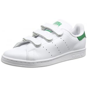 more photos 8a059 8bcdf Adidas Stan Smith Cf Velcro Blanche Baskets Tennis Homme