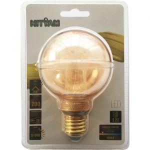 Ampoules LED E27 G80 Déco Nouvelle Génération - 4 W équivalence 20 W - Blanc chaud