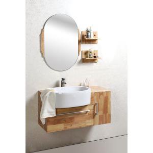 Ensemble meuble sous-vasque, vasque, étagères et miroir Nivan