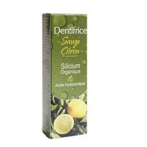 Aquasilice Dentifrice Sauge citron silicium organique et Acide Hyaluronique