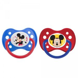 Dodie 2 sucettes silicone Mickey 6 mois +