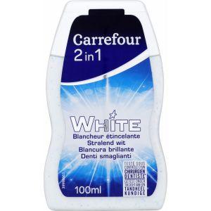 Carrefour White - Dentifrice blancheur étincelante 2 en 1