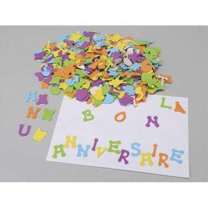 Gommette ' les lettre' en mousse caoutchouc adhesives - boite de 400