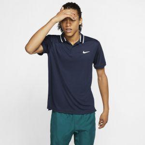 Nike Polo de tennis Court Dri-FIT pour Homme - Bleu - Taille M