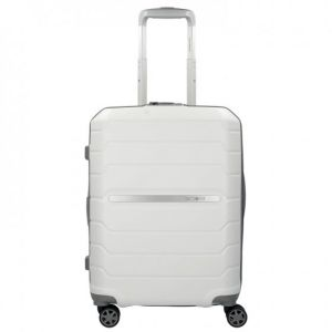 Samsonite Flux - Spinner 55/20 Expandable Bagage cabine, 55 cm, 44 liters, Blanc