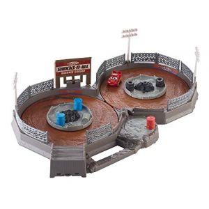 Pixar Coffret circuit Thunder Hollow transportable, piste en 8 pour mini voitures avec mini véhicule Flash McQueen, jouet pour enfant, FLG71