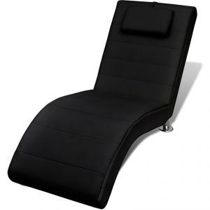VidaXL 240709 - Chaise longue avec 2 pieds et appui-tête