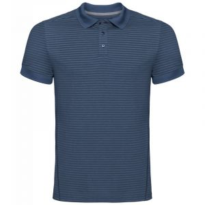 Odlo Polo s/s Nikko Dry Shirt Homme, Ensign Blue-Faded Denim Stripes, FR : M (Taille Fabricant : M)