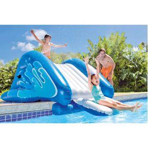 Intex Toboggan gonflable pour piscine enterré